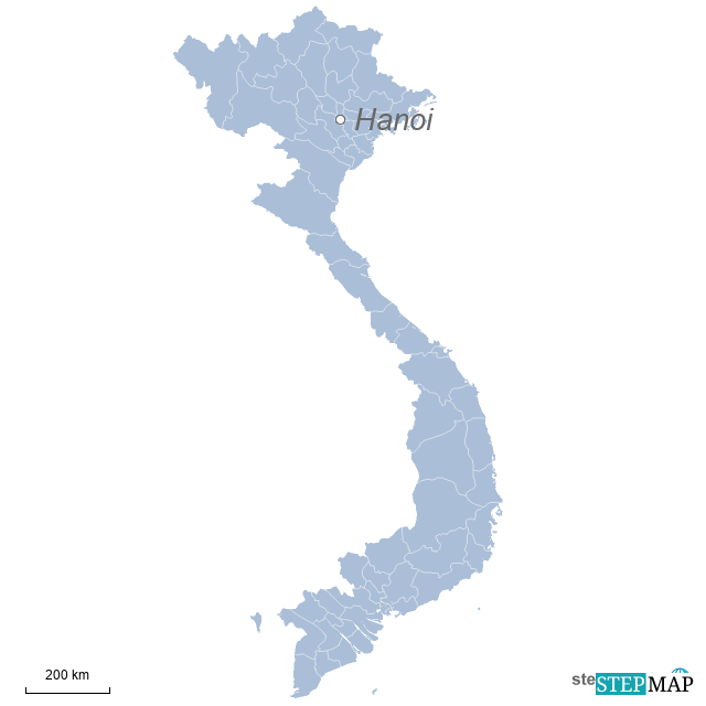 Einzelkarte Vietnam