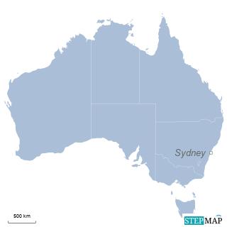 Einzelkarte Australien