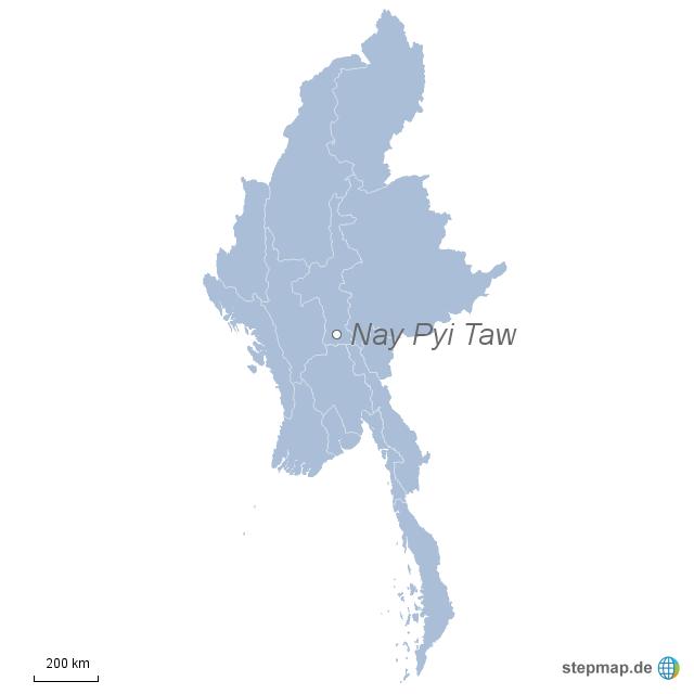 Einzelkarte Myanmar