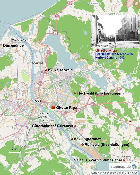 Ghetto Riga und Umgebung