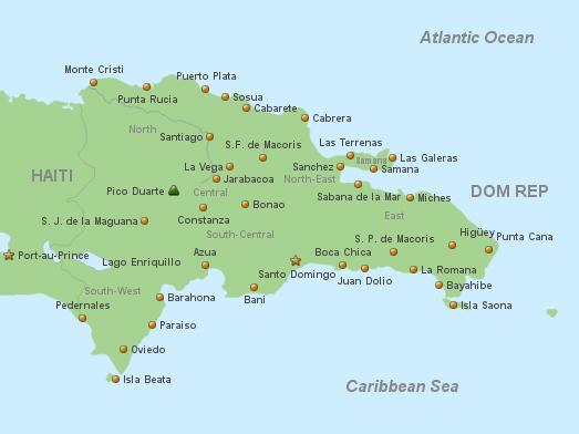 Dominikanische Republik Vorlage Englisch