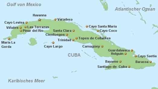 Cuba Karte