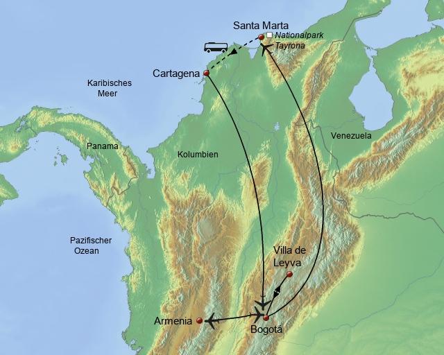 Kolumbien intensiv