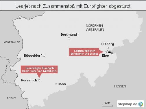 Aktualisiert: Learjet nach Zusammenstoß mit Eurofighter abgestürzt