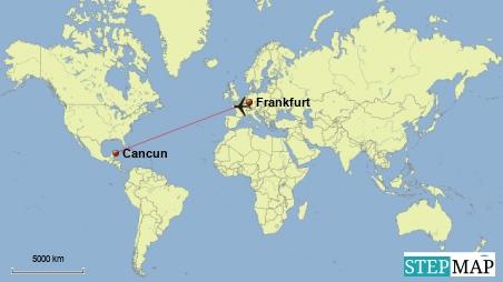 Flug Frankfurt-Cancun