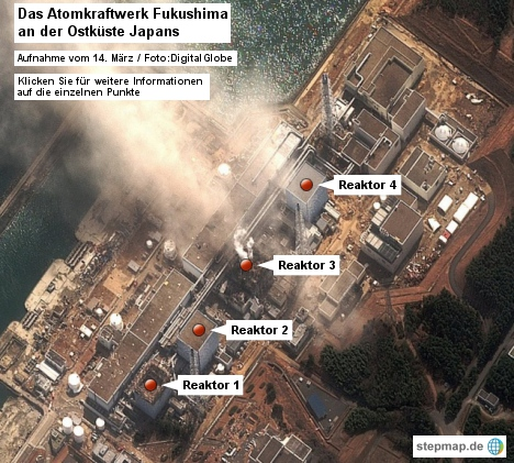 Das japanische Atomkraftwerk Fukushima