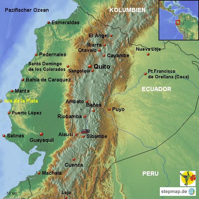 Übersichtskarte Ecuador