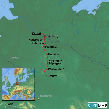 27.6.2014 - 2. Etappe: Hamburg - Bergen