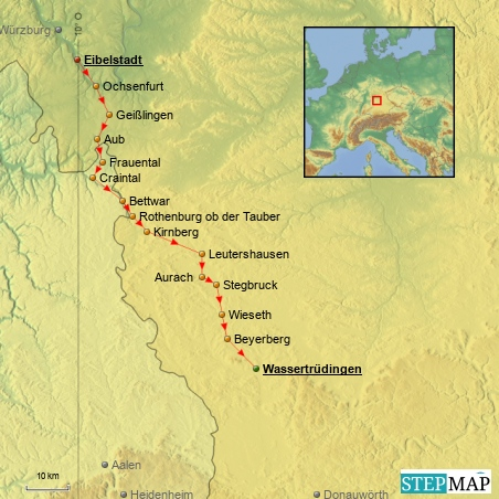 2.7.2014 - 7. Etappe: Eibelstadt - Wassertrüdingen