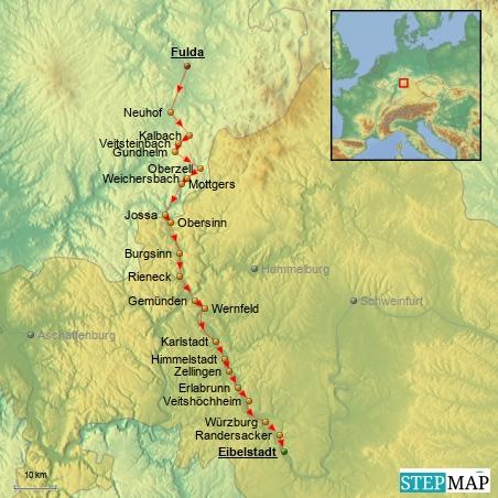 1.7.2014 - 6. Etappe: Fulda - Eibelstadt