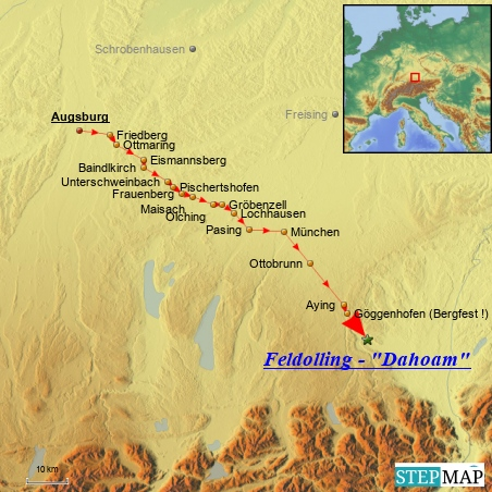 Letzter Fahrtag am 4.7. 2014: Augsburg - Feldolling