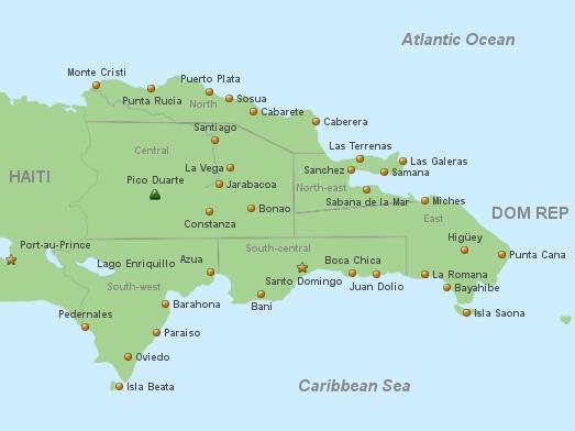 Map Dominican Republic Destination Info