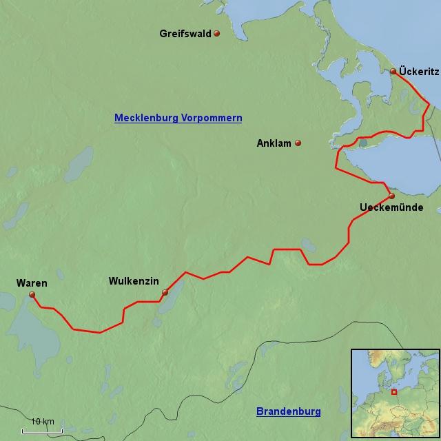 Fahrradtour Waren (Müritz) nach Usedom