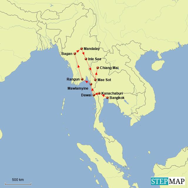 Myanmar Route