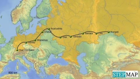 Zentralasien, Anreise