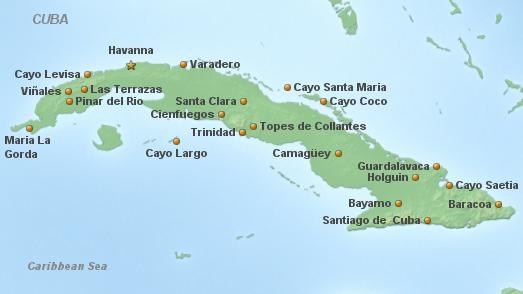 Cuba Hauptkarte