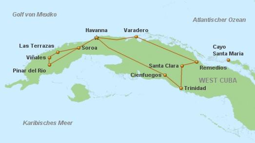 Kuba Karte Rundreise.Privatreise Cuba Tradicional Privatreise Kuba Cuba Real