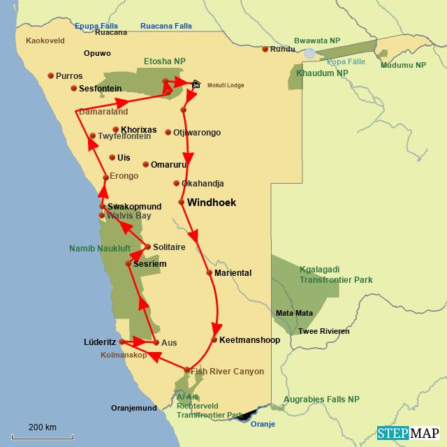 SW Ganz Namibia in Einem