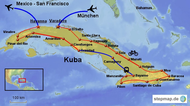 Kuba mit dem Radl