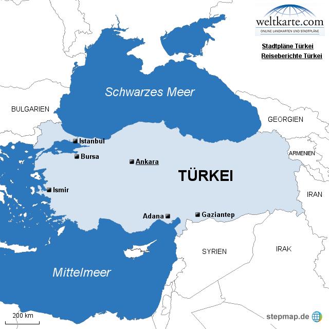 Türkei Karte politisch