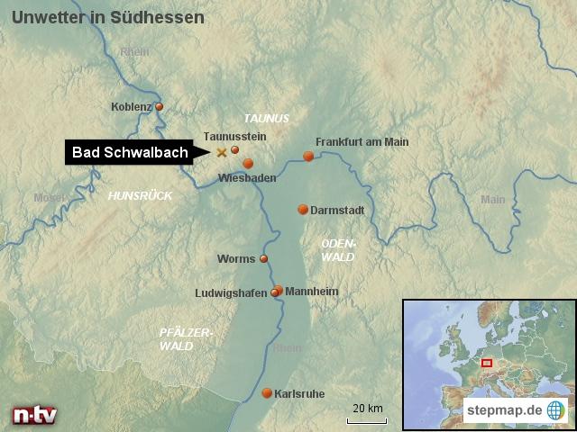 Unwetter in Südhessen