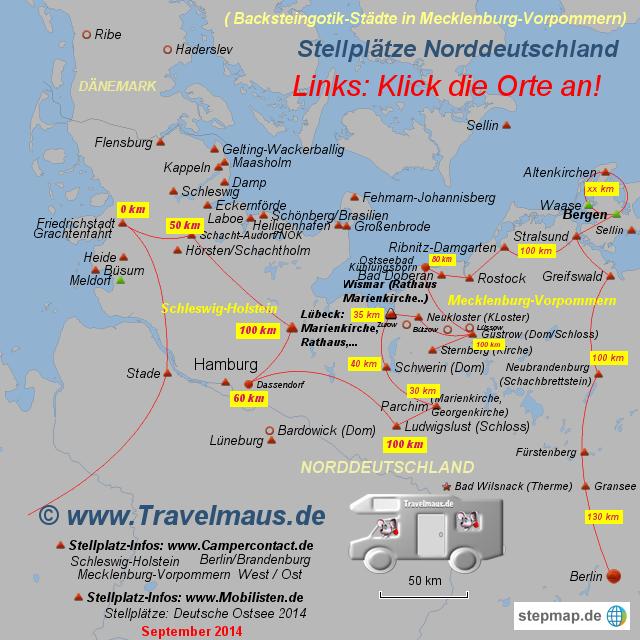 Stellplätze Norddeutschland