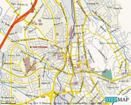 """Detailkarte mit meinem zuhause-auf-Zeit  (rote Beschriftung """"mein zuhause"""")"""