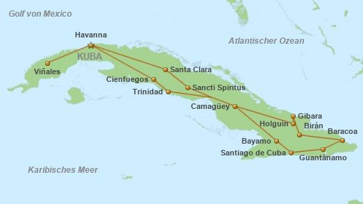 Kuba Karte Rundreise.Privatreise Grosse Kuba Rundreise Privatreise Kuba Cuba