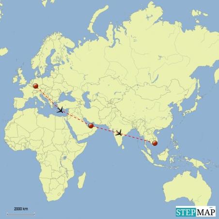 Frankfurt / Abu Dhabi / Saigon oder auch Ho-Chi-Minh-City (HCMC) (und auch wieder zurück)