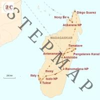 Routenkarte zur Reise Insel der Lemuren