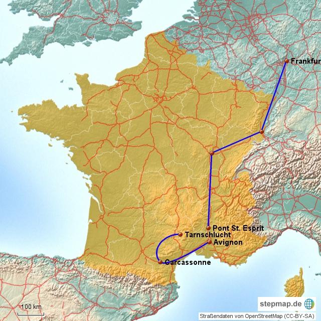 Frankreich - Anreise
