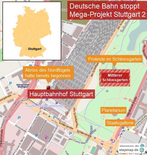 Deutsche Bahn stoppt Stuttgart 21