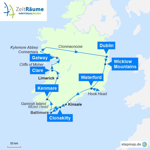 Irlands zauberhafter Süden mit Logo