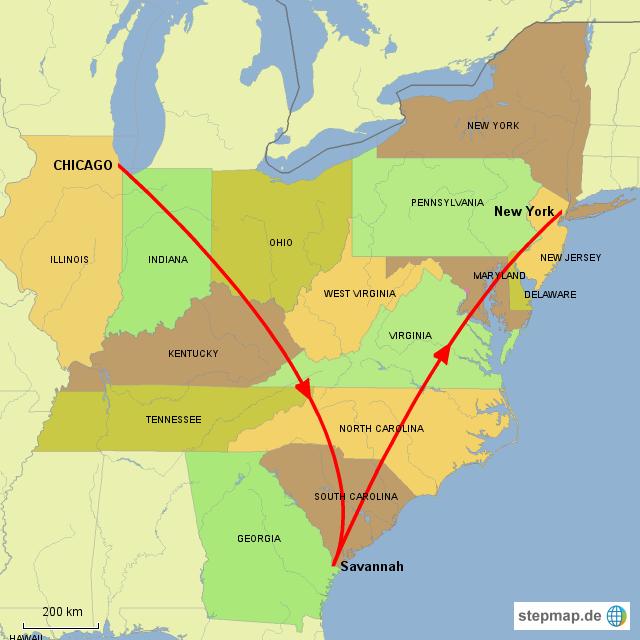Frühling 2014 - 6 Wochen zwischen Chicago, Savannah und New York