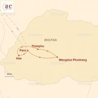 Routenkarte zur Reise Der Westen mit Haa-Tal