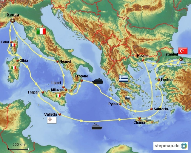 Große Mittelmeerkreuzfahrt