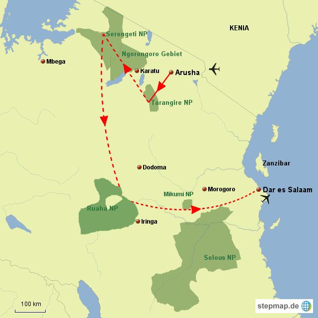 TZ Höhepunkte des Nordens/Südens