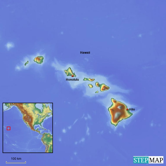 Übersichtskarte Hawaii