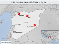 USA bombardieren IS-Ziele in Syrien
