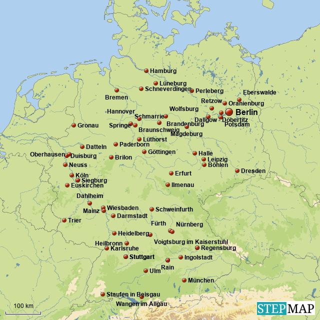 Lübzer Gymnasiasten in Deutschland