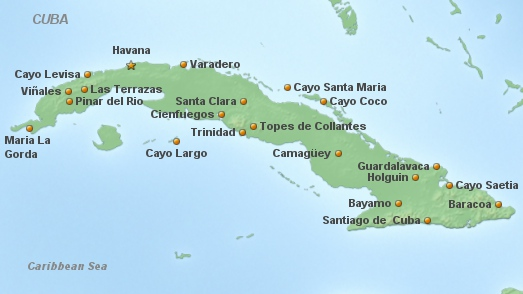Cuba Main Map