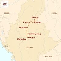 Routenkarte zur Reise Irrawaddy-Flussfahrt auf der Amara (Bhamo - Mandalay)