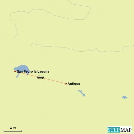 Fahrt von San Pedro la Laguna nach Antigua