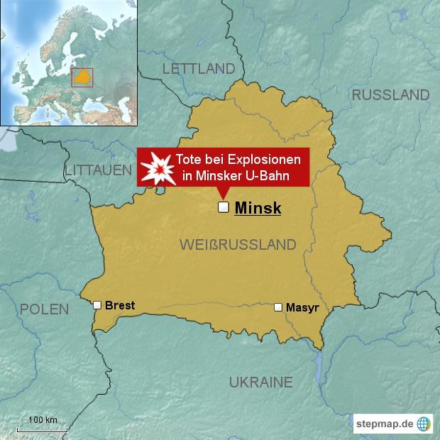 Tote bei Explosionen in Minsker U-Bahn