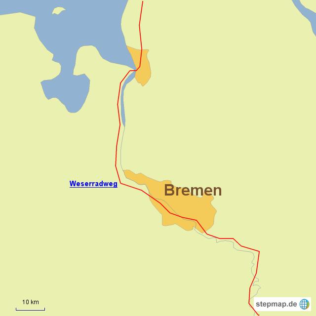 Radwege in Bremen