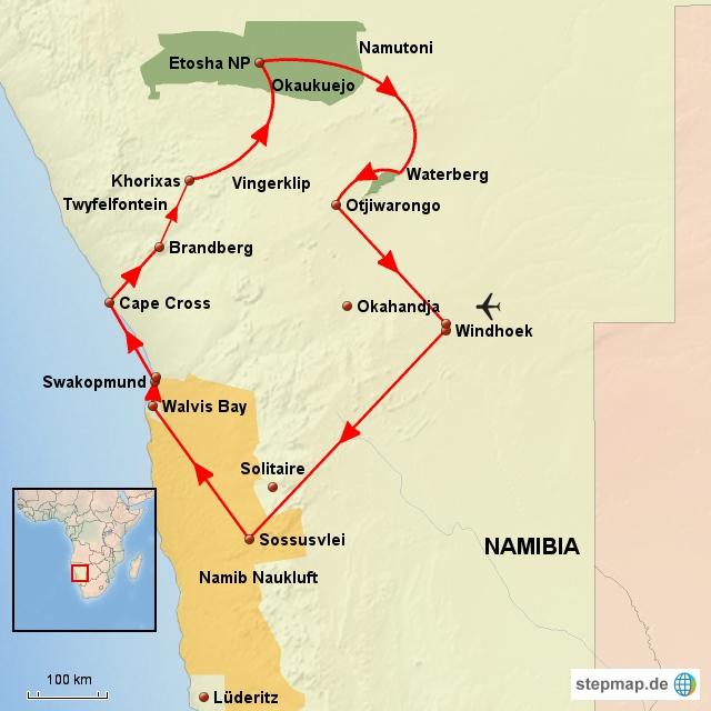 NA Entdeckungsreise Namibia