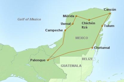 Rundreise Hoehepunkte Yucatan