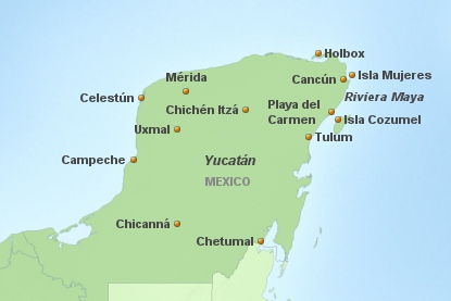 Mexico Badeferien Yucatan
