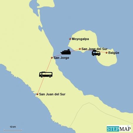 Fahrt von San Juan del Sur nach Balgue auf der Isla Ometepe