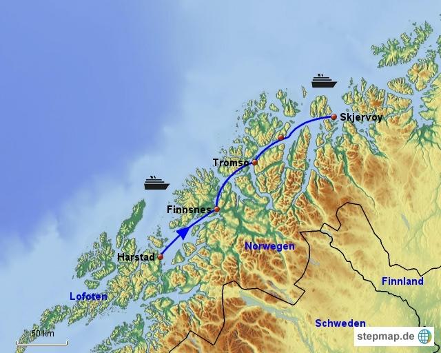 9. Tag Hurtigrute Skjervoy